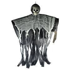 Skull <b>Halloween Hanging Ghost Haunted</b> House Grim Reaper ...