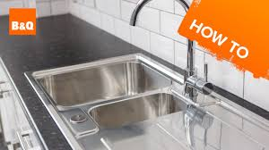 How to replace a <b>kitchen sink</b> part 3: fitting your <b>new</b> sink - YouTube