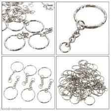 <b>100pcs</b> Silver Keyring Blanks Tone <b>Key chains</b> Key <b>Split</b> Rings 4 ...