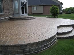 raised paver patio outdoor decorating
