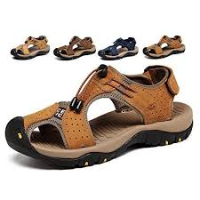 Amazon.com | <b>Sandals Men</b> Leather Beach Shoes Baotou Casual ...