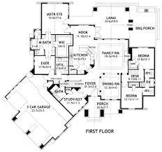 House Plan at FamilyHomePlans comCottage Craftsman Tuscan House Plan Level One