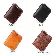 Online Shop <b>JOYIR Genuine Leather</b> Card Wallet For Men <b>Women</b> ...