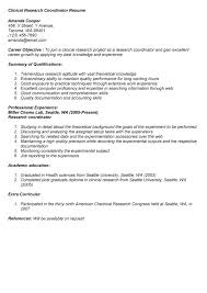 clinical research coordinator resume   best template collectionclinical research coordinator resume objective