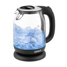 <b>Чайник Kitfort KT</b>-<b>654</b>-<b>6</b>, чёрный купить по цене 1 290 руб ...