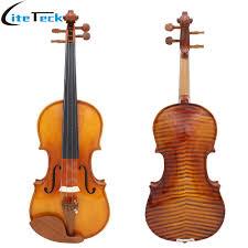 <b>Full Size 4/4 Violin</b> Spruce Flame Maple Veneer Fiddle for Performer ...