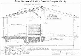 NCR  Plan View and perspective of poultry carcass compost facility