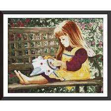 <b>Joy Sunday</b> Embroidered Girl Chinese Cross Stitch Kits Embroidery ...