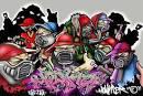 Graffiti Schizzi Tag Disegni sui muri -