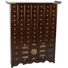 korean antique style 63 drawer apothecary chest antique pulaski apothecary style