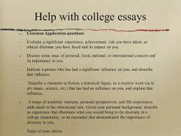 working staff students a guide for college advisors help college essays common application questions evaluate a significant experience achievement risk you