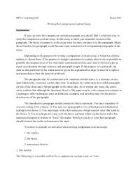 writing a comparecontrast essay hfcc learning lab essay  writing the comparison contrast