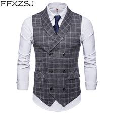<b>2019 FFXZSJ Brand 2019</b> New Men Formal Suit Vest New Fashion ...