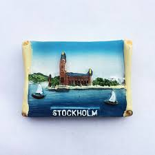 <b>Stockholm</b> 3D <b>Resin</b> Fridge Magnet <b>Sweden Tourist Travel</b> Souvenir ...
