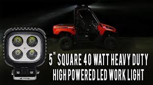 "5"" Square <b>LED Work</b> Light Heavy Duty High Powered - YouTube"