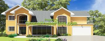 Ghana House Plans   Prempeh House Plans Home Front ViewPrempeh House Plans Home Front View