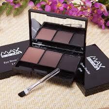 <b>3 Color Eyebrow Powder</b> Palette Makeup Shading Brush Box Brow ...