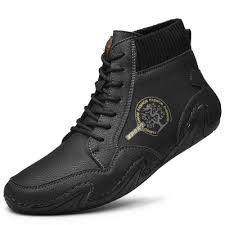 <b>SENBAO Men Boots Fall</b> Winter Plus Size Mid-Top Trend Socks Shoes