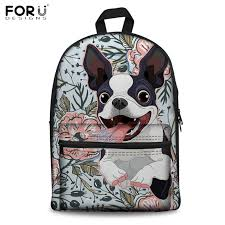 <b>FORUDESIGNS</b> Animal Backpacks Goofy Boston Terrier <b>3D Print</b> ...