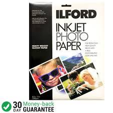 Premium Plus <b>Glossy</b> Inkjet Photo <b>Paper</b> Ilford 8.5x11x200 Sheets ...