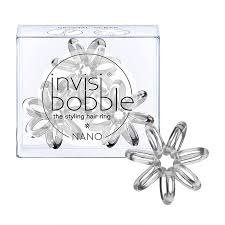 <b>invisibobble</b> The Styling Hair Ring 3 Pack NANO <b>Crystal Clear</b> ...