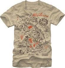 <b>Game Of Thrones</b> T-Shirt - <b>Westeros</b> Map Men's Tee $19.46 (save ...