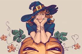 Young woman dressed up in <b>witch costume</b>. holiday <b>halloween</b> ...