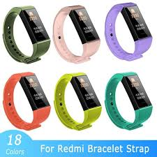 For Redmi Band Strap <b>Silicone Smart</b> Bracelet <b>Replacement</b> ...