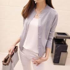 Spring and <b>Autumn New</b> Women V neck Long Sleeved Knitting ...
