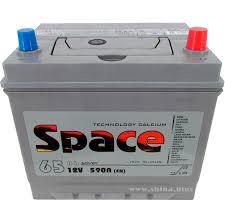 <b>АКБ</b> 65Ah <b>Space</b> Ca/Ca (75D23L) (о.п.+) 590А 12V Азия