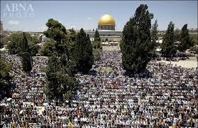Image result for اولین نماز جمعه ماه مبارک رمضان در مسجدالاقصی برگزار شد