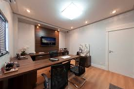 interior designs best designer related pic awesome light brown finish laminated wooden monitor desk elegant u shaped work floor tv background awesome top small office interior design images
