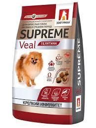 26% <b>Зоогурман</b> Полнорационный <b>сухой корм</b> д/собак. Supreme ...