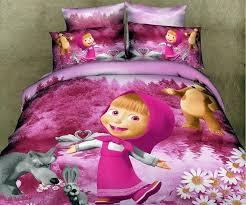 masha bear kids baby girls bedding set for twin full queen size children cartoon duvet quilt bedroom queen sets kids twin
