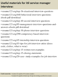 top  itil service manager resume samples       useful materials for itil service manager