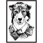 Купить <b>Постер в рамке Дом</b> Корлеоне Собака-авиатор 30x40 см ...