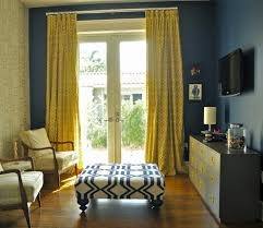 Purple Living Room Curtains Attractive Mustard Curtains With Blue Dark Walls In Purple Living