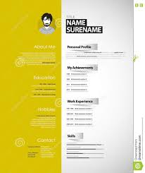 creative cv template paper stripes stock illustration creative cv template paper stripes