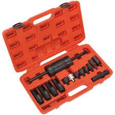Sealey <b>14 Piece</b> Diesel <b>Injector</b> Puller Set | Diesel Engine Tools