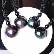 Черный Obsidian Rainbow Eye Beads Ball Природный камень ...