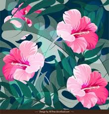 Pattern of <b>hibiscus flower</b> free vector download (27,367 Free vector ...