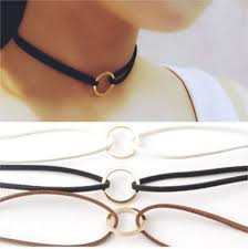<b>Hot Sale Women Jewelry</b> Gray Velvet Suede Double Layer <b>Choker</b> ...