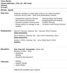 Retail Sales Resume The Resume Template Site