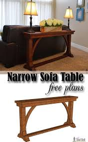 free diy plans to build a stylish narrow sofa table for about 30 bathroomcute diy office homemade desk plans furniture