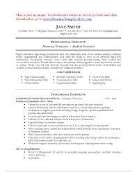resume examples  pharmacy technician resume objective example    gallery of pharmacy technician resume objective example