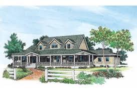 Eplans Farmhouse House Plan   Wraparound Porch   Square Feet    Front