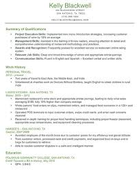 best resumes examples with professional experience and work   is a    qualifications resume   best template collection