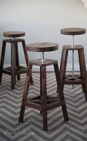 table bar height chairs diy: so when toliy texted this christmas break saying he was back home for a few days and wanted to work on those stools i said uh ill take three