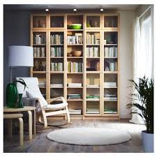 Living Room With Bookcase Billy Oxberg Bookcase White 78 3 4x93 1 4x11 3 4 Ikea