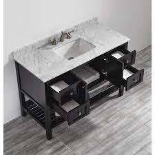 bathroom features gray shaker vanity: vinnova florence ampquot single bathroom vanity set